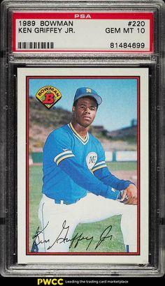 2114b9af22 1989 Bowman Ken Griffey Jr. ROOKIE RC #220 PSA 10 GEM MINT (PWCC · Oakland  AthleticsBowman Baseball CardsUpper DeckKen ...