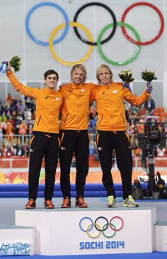 Another Dutch sweep at the olympics in Sochi. Speedskating 500m. Photo:AP/Semansky