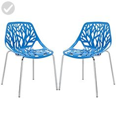 Modway Stencil Dining Side Chair, Blue, Set of 2 - Improve your home (*Amazon Partner-Link)