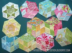 Hexies made on August 2011 Vacation