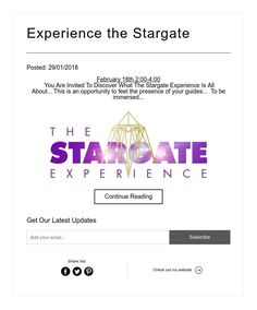Experience the Stargate