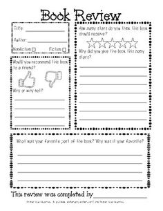 Free Book Review Template For Kids Google Search Book