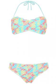 Primark Tie Dye Crochet Bandeau Bikini, £6