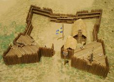 Model_of_Fort_Cristina.jpg (1200×874)  Example of how to build a colonial fort model.  Adapt for Fort Frederica, GA