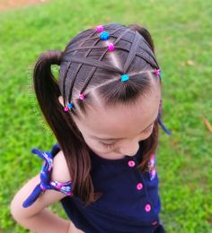 Kids Braided Hairstyles, Little Girl Hairstyles, Cute Hairstyles, Girl Hair Dos, Hello Kitty Backgrounds, Braids For Kids, Crazy Hair, Cute Little Girls, Hair And Nails