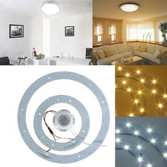 23W 5730 SMD LED Double Panel Circle Annular Ceiling Light Fixtures Board Lamp