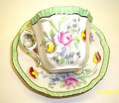 """Royal Grafton Bone China Tea Cup & Saucer """" LEEDS"""""""