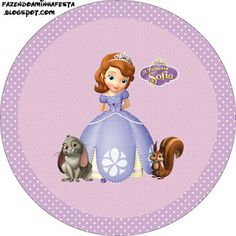 Princesa Sofía: Etiquetas para Imprimir Gratis.