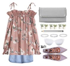 """""""Shein"""" by simona-altobelli ❤ liked on Polyvore featuring STELLA McCARTNEY, Allstate Floral, Belk Silverworks, Laura Mercier and Elizabeth and James"""