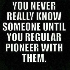 I found a Best friend by doing ministry. This is true. Hopefully one day I can regular Pioneer with her Psalm 133, Jw Pioneer, Pioneer Life, Pioneer School, Jw Humor, Bible Humor, Jehovah's Witnesses, Some Words, True Stories