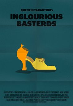 Inglourious Basterds (2009) ~ Minimal Movie Poster by Stefano Pellegrini ~ Tarantino Series #amusementphile