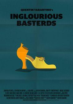 Inglourious Basterds (2009) ~ Minimal Movie Poster by Stefano Pellegrini ~ Tarantino Series #amusementphile