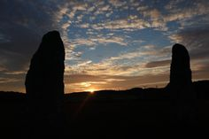 Ancient standing stones framing the sunset Anglesey, Flora, Coast, Stones, Album, Celestial, Sunset, Outdoor, Sunsets