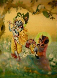 Oh my Krishna. Wow haven't seen this pic before super sweet Radha Krishna Art, Hindu Art
