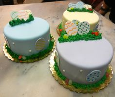 Pastel Easter Cakes
