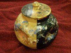 Rookwood Pottery Tea Jar signed 'AH', Albert Humphries