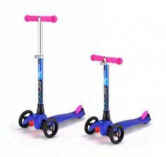 Mini Glam Metallic синий Y-Scoo - трехколесная модель.