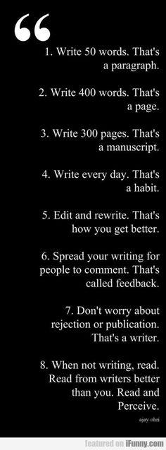 advice any writer should take