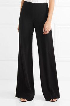 Diane von Furstenberg - Preston Stretch-crepe Wide-leg Pants - Black - US10
