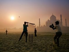 Playing cricket in India