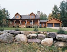 Country and Log Homes Landscaping - House Plans and More