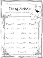 Missing Addend Freebie $0 $0 ~Pinned by www.FernSmithsClassroomIdeas.com