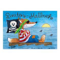Mit dem Mini-Malbuch mit Piraten können Kinder ab 3 Jahren künstlerisch in See stechen. https://www.graetz-verlag.de/mini-malbuch-mit-piraten