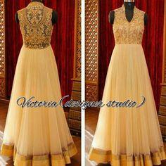 Off white full length gown