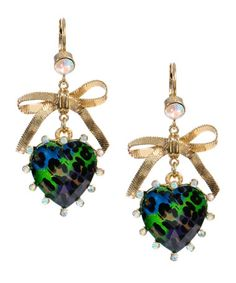 betsey johnson: I love these, i have the classic leopard earrings. Well if leopards were sparkly.