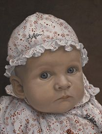 This is my favourite Portrait of them all! I find the baby has been painted so well! I love what she is wearing and the way the painter has made her look so real! The detail is everywhere!