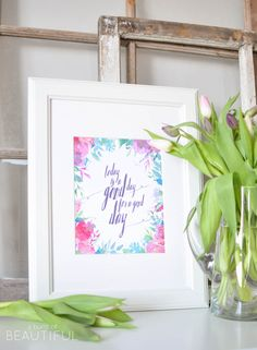 Download this inspirational printable for free, plus browse 33 free printables and inspiring vignettes   A Burst of Beautiful