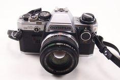 vintage camera olympus om 10 made in japan with lens
