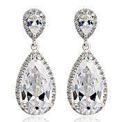 (1 Pair)Sweet (Water Drop) Silver Alloy Drop ... – USD $ 23.79