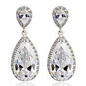 (1 Pair)Sweet (Water Drop) Silver Alloy Drop ... – USD $ 23.79