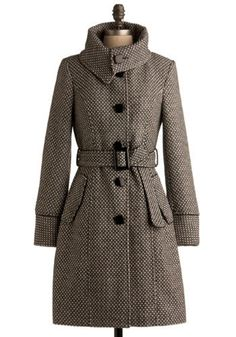 Dusk Flurries Coat | Mod Retro Vintage Coats | ModCloth.com - StyleSays