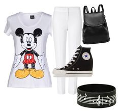 """Black and white"" by komalbiala on Polyvore featuring Disney, ESCADA and Converse download the app polyvore super fun u gotta check it out just to let u know i made this black and white"