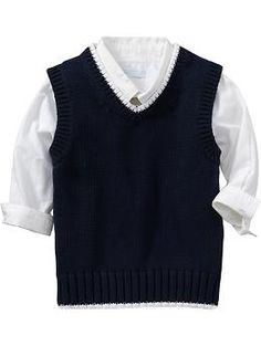 Navy Blue Sweater Vests for Toddler Boy | Old Navy