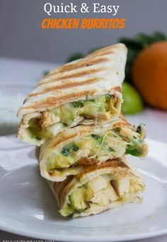 Quick and Easy Chicken and Avocado Burritos (Under 10 Minutes!) | Gimme Delicious
