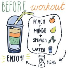 Energy booster before workout.