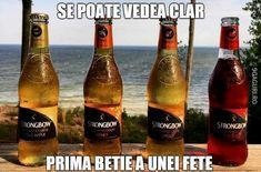 Prima beție a unei fete Beer Bottle, Drinks, Drinking, Beverages, Beer Bottles, Drink, Beverage