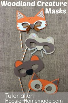 Fall Party for Kids with Woodland Creature Mask Tutorial :: Available on HoosierHomemade.com #Fall #Kids #Crafts