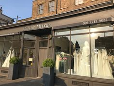 Mirror Mirror Bridal shop - Brides best friend for wedding dresses. Searching for your dream wedding dress? Visit our London boutique to see our extensive designer collection including our own Mirror Mirror couture gowns. Elegant Wedding Dress, Dream Wedding Dresses, Mirror Mirror Bridal, Bridal Boutique, Designer Collection, Window, Display, Outdoor Decor, Home