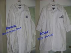 How to make a Kid's Lab Coat out of a Men's shirt