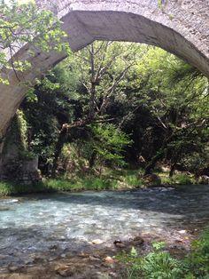 #Greece #peloponissos #arcadia #lousios #river #tour Garden Bridge, Greece, Outdoor Structures, Tours, River, Rivers, Grease
