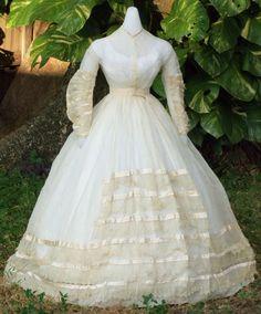 Civil War wedding dress