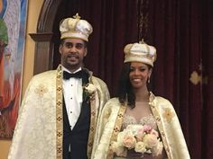American, Ariana Austin, marries the Prince Joel Makonnen of Ethiopia. His family trace their royal line back to King Solomon and Queen Sheba. They were wed in Maryland, USA in an Orthodox Christian ceremony with 13 priests. Washington Dc, Japanese Princess, Ethiopian Wedding, Black Royalty, African American Weddings, Me As A Girlfriend, Ariana, Black Couples, Married Woman