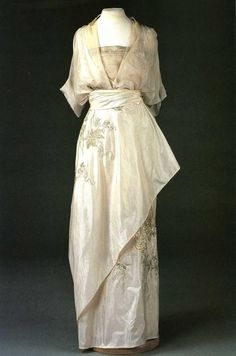 Antique Silk Wedding Dress, ca. 1800's
