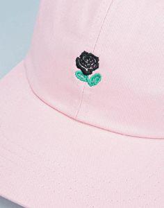 e0531d38488 The Hundreds Rose Strapback Cap - Pink Visor Cap