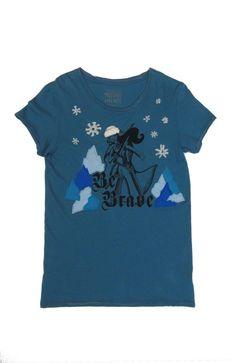 Snow Be Brave: EcoFi Felt Hand Printed 100% Organic Alternative Apparel Crew T-Shirt with Eco-Felt One Of A Kind Appliqués #MorganleFay #MistsofAvalon #BeBrave #Feminist #WomenPower #Enchantress #queen #Avalon #MorgaineleFey #sorceress #MeToo