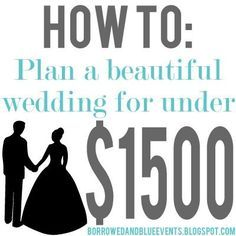 Tips Tricks on how to plan your dream wedding for amazingly cheap. I especially love her alternative to flowers!   weddingsabeautiful